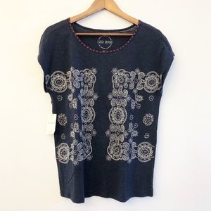 NWT LUCKY BRAND Embroidered Top SZ Small